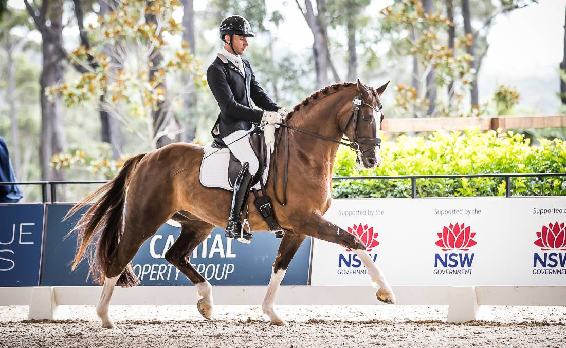 DRESSAGE BY THE SEA: Horses and riders as one.
