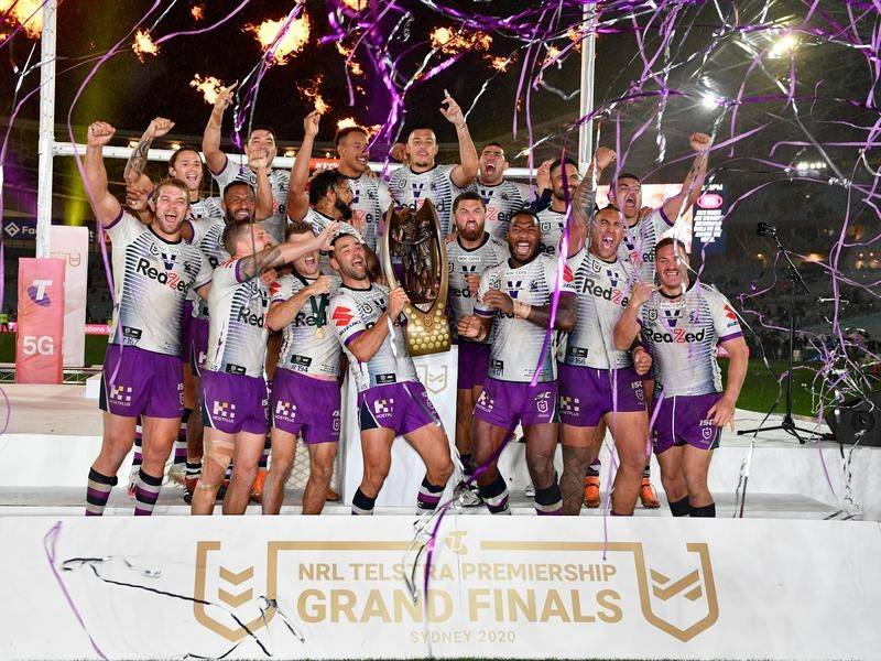 Melbourne are celebrating another NRL grand final win after beating Penrith in the season finale.