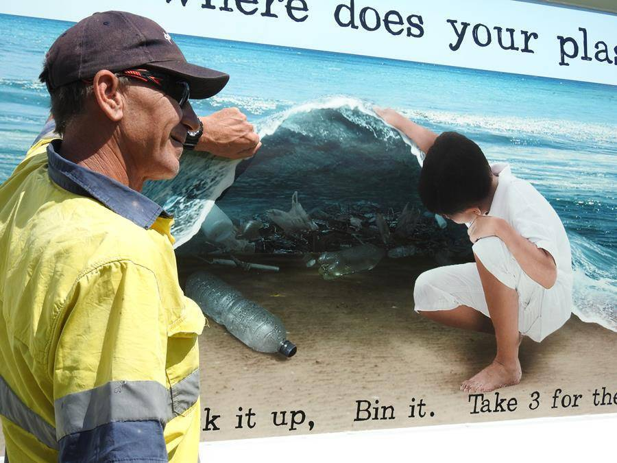Murals at the Ulladulla Harbour and Mollymook beach, which encourage people to reduce plastic pollution formed a previous Take 3 project.
